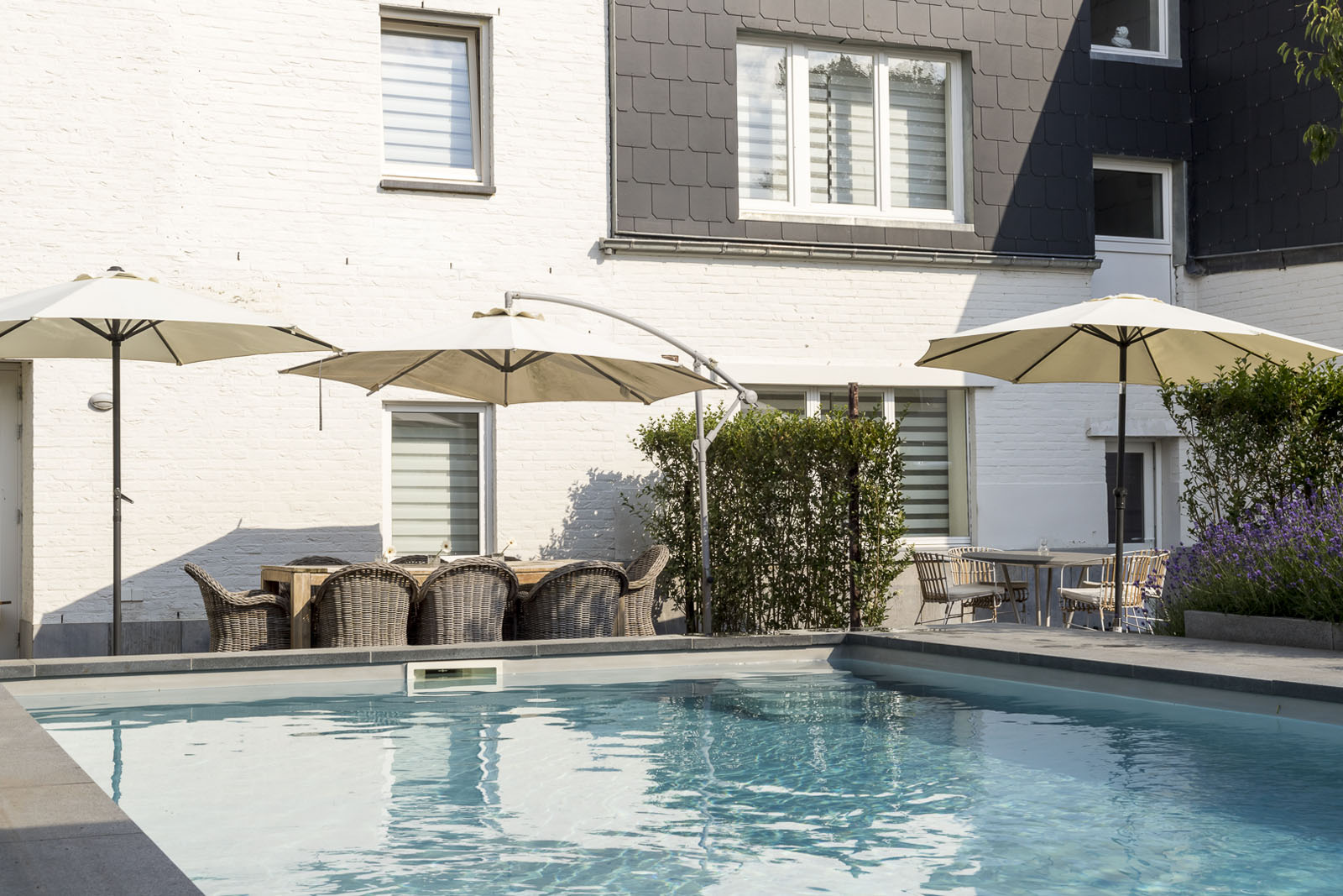 Hostellerie Marie Tuin zwembad 4