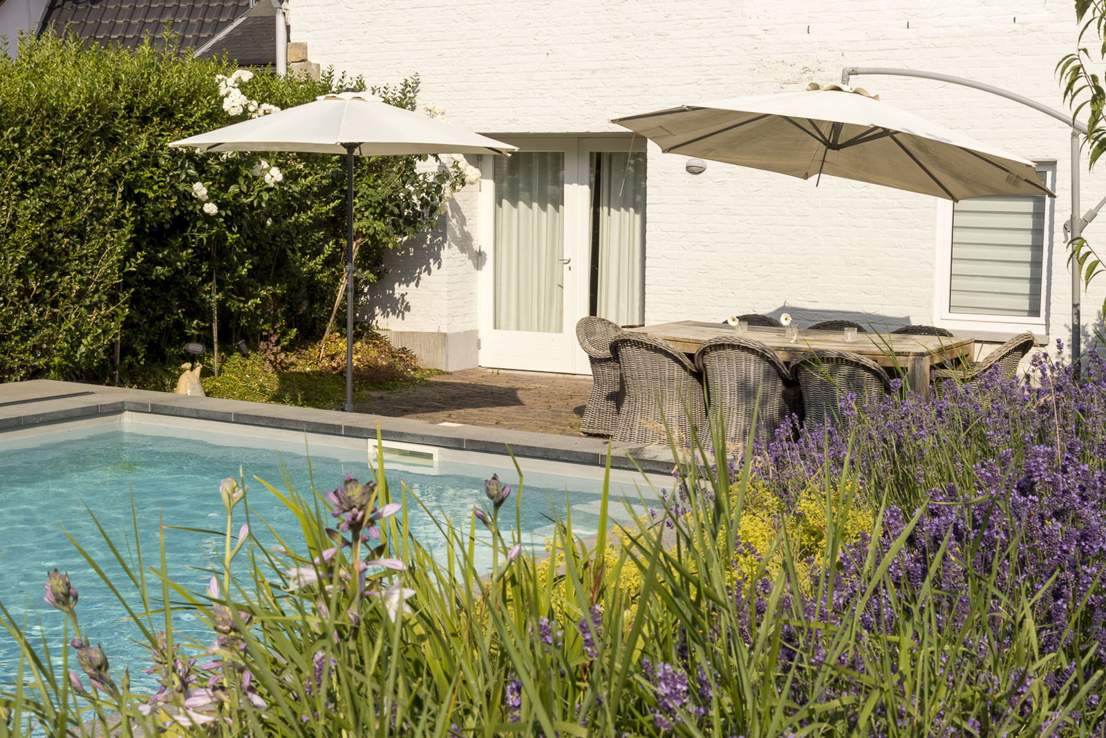 Hostellerie Marie zwembad